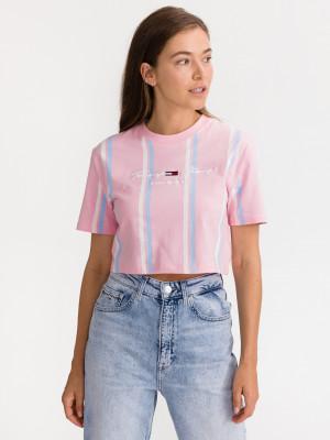 Pastel Stripe Crop top Tommy Jeans Růžová