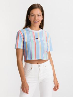 Pastel Stripe Crop top Tommy Jeans Modrá