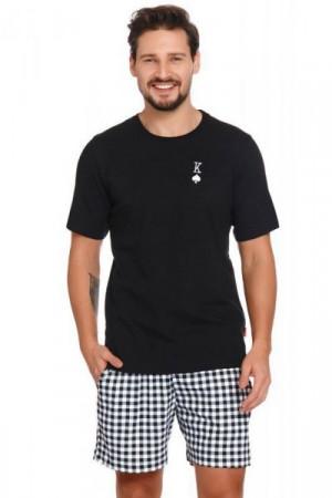 Dn-nightwear PMB.4240 Pánské pyžamo L black