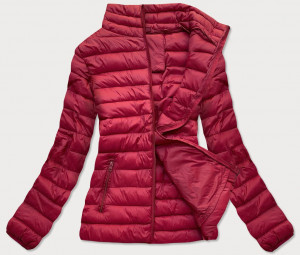 Lehká prošívaná dámská bunda v bordó barvě (20311) Červené S (36)
