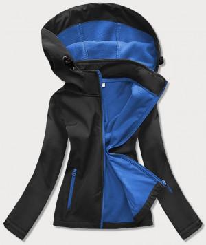 Černo-světle modrá dámská trekingová bunda-mikina (HH018-1-9) Černá S (36)