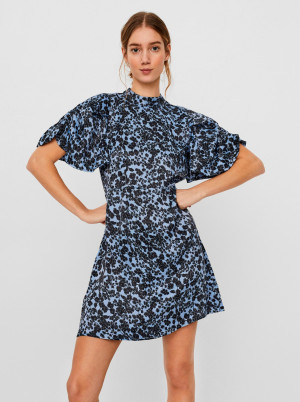 Vero Moda modré květované šaty Lydia