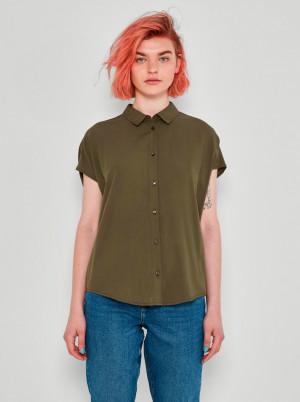 Noisy May khaki dámská košile Atle