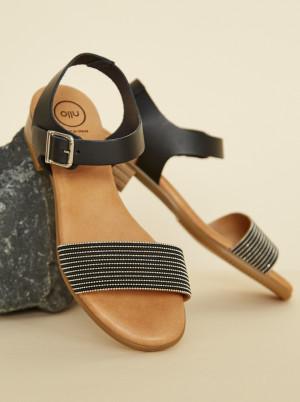 OJJU černé kožené sandály -