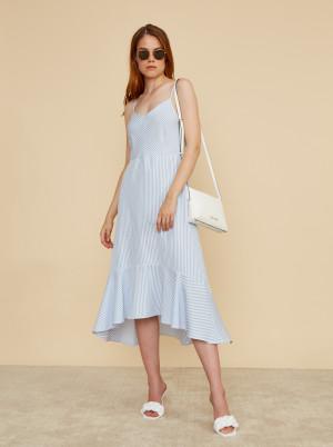 ZOOT světle modré pruhované maxi šaty Lucy