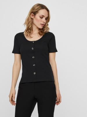 Vero Moda černé tričko Helsinki
