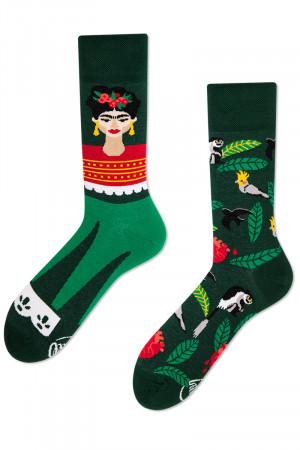 Many Mornings zelené ponožky Feel Frida - 35-38
