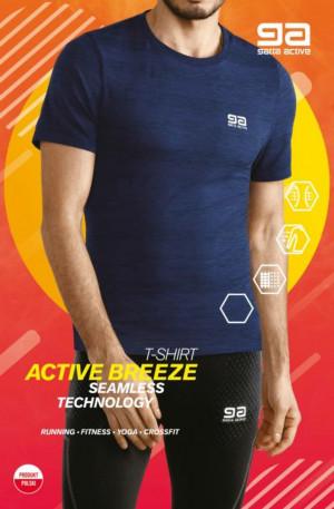 Pánské tričko T-SHIRT SEAMLESS MEN ZIGGY námořnická modrá