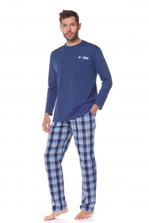 Pánské pyžamo L&L 22161 Pocket dl/r M-3XL Námořnictvo