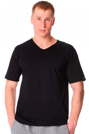 Pánské tričko 201 new plus black - CORNETTE černá 4XL