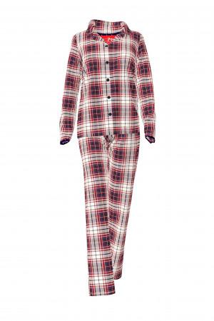 Vamp - Dámské pohodlné pyžamo 11448 - Vamp red berry s