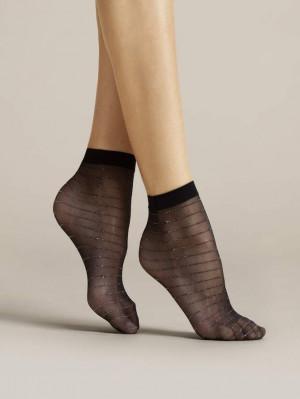 Dámské ponožky Fiore Anello G 1083 černá / lurex Univerzální