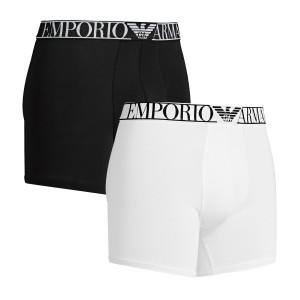 Boxerky 2pack 111912 1P720 11010 černo-bílá - Emporio Armani