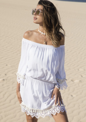 Dámské plážové šaty Ysabelmora 85583 M Bílá