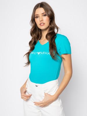 Dámské tričko 163321 0P317 00383 modrá - Emporio Armani modrá