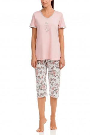 Dámské pyžamo 12037 růžová - Vamp růžová
