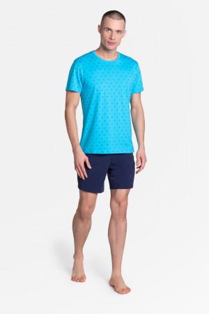 Pánské pyžamo LEAF 38872 - Henderson tm.modra - sv.modrá