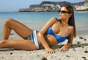 Ewlon Vanessa Soft (2) + Brazilky Dámské plavky 36 modrá