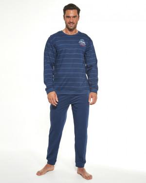 Pánské pyžamo DR 308/176 FOLLOW ME 2 námořnická modrá 2XL