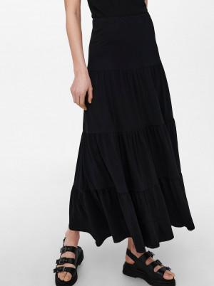 Only černá dámská dlouhá sukně May
