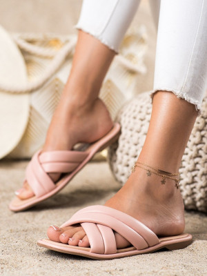 Originální  nazouváky dámské růžové bez podpatku