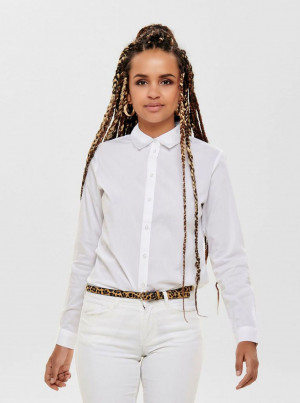 Jacqueline de Yong bílá dámská košile Mio
