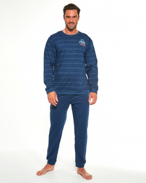 Pánské pyžamo Cornette 308/176 Follow Me 2 dł/r S-2XL námořnická modrá