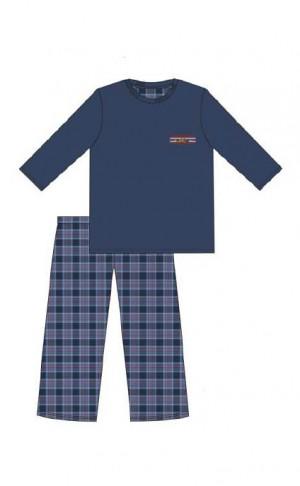 Pánské pyžamo Cornette 124/179 Mountain dł/r S-2XL námořnická modrá