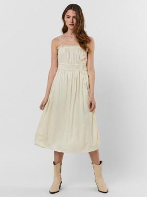 Vero Moda krémové šaty Helyn