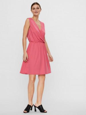 Vero Moda růžové šaty Haidy