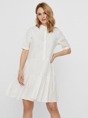 Vero Moda bílé košilové šaty Delta