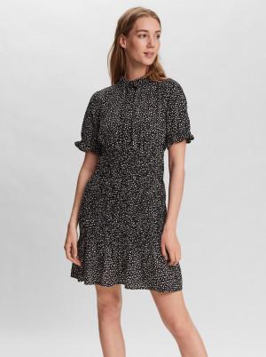 Vero Moda černé košilové šaty Ditche