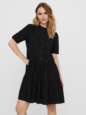 Vero Moda černé košilové šaty Delta