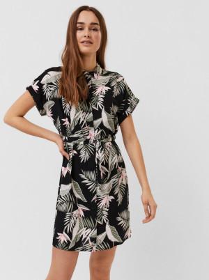 Vero Moda černé květované košilové šaty Easy