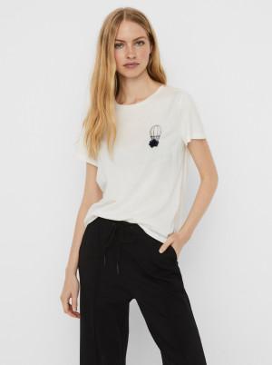 Vero Moda bílé tričko Donna s potiskem