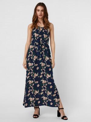 Vero Moda modré květované maxi šaty Simply