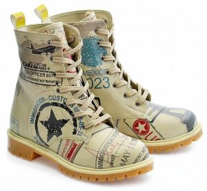 Goby béžové boty Army Airplane -