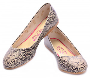 Goby vzorované baleríny Leopard Look -