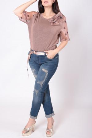 Rinascimento bronzové tričko s mašlí -