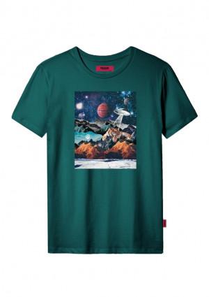 Dámské tričko John Frank JFTCOOL28 L Zelená