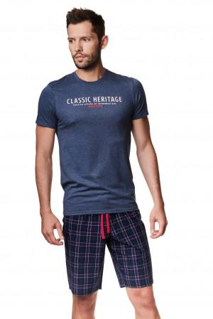 Pánské pyžamo Henderson 39243 Myth kr/r M-XL kaštanová