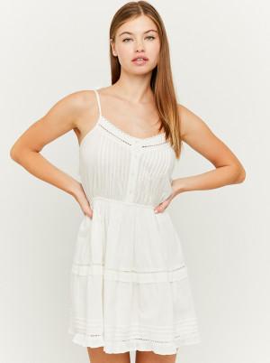 Tally Weijl bílé šaty s krajkou