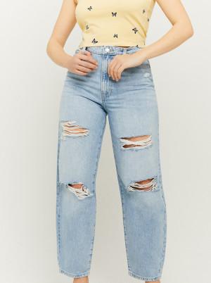 Tally Weijl světle modré straight fit zkrácené džíny