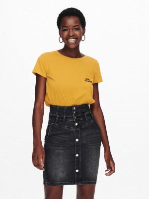 Jacqueline de Yong hořčicové tričko Dina