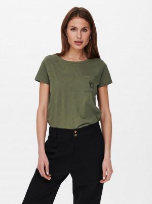 Jacqueline de Yong khaki tričko Dina