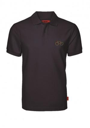 Pánské tričko John Frank JFTPOLO08 L Černá