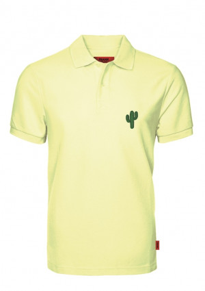 Pánské tričko John Frank JFTPOLO12 L Žlutá
