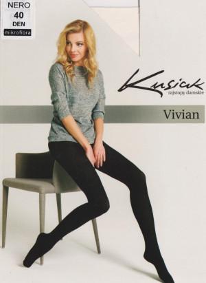 Dámské punčochové kalhoty MIKRO 40 den VIVIAN - Kusiak Černá 4-XL