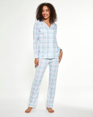 Dámské pyžamo Cornette 482/284 Susie dl/r S-2XL Šedá
