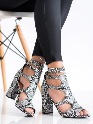 Pohodlné  sandály dámské se zvířecím motivem na širokém podpatku